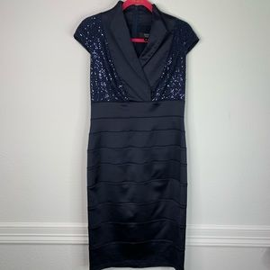 Tadashi Collection Sequin Tiered Dress Size 8